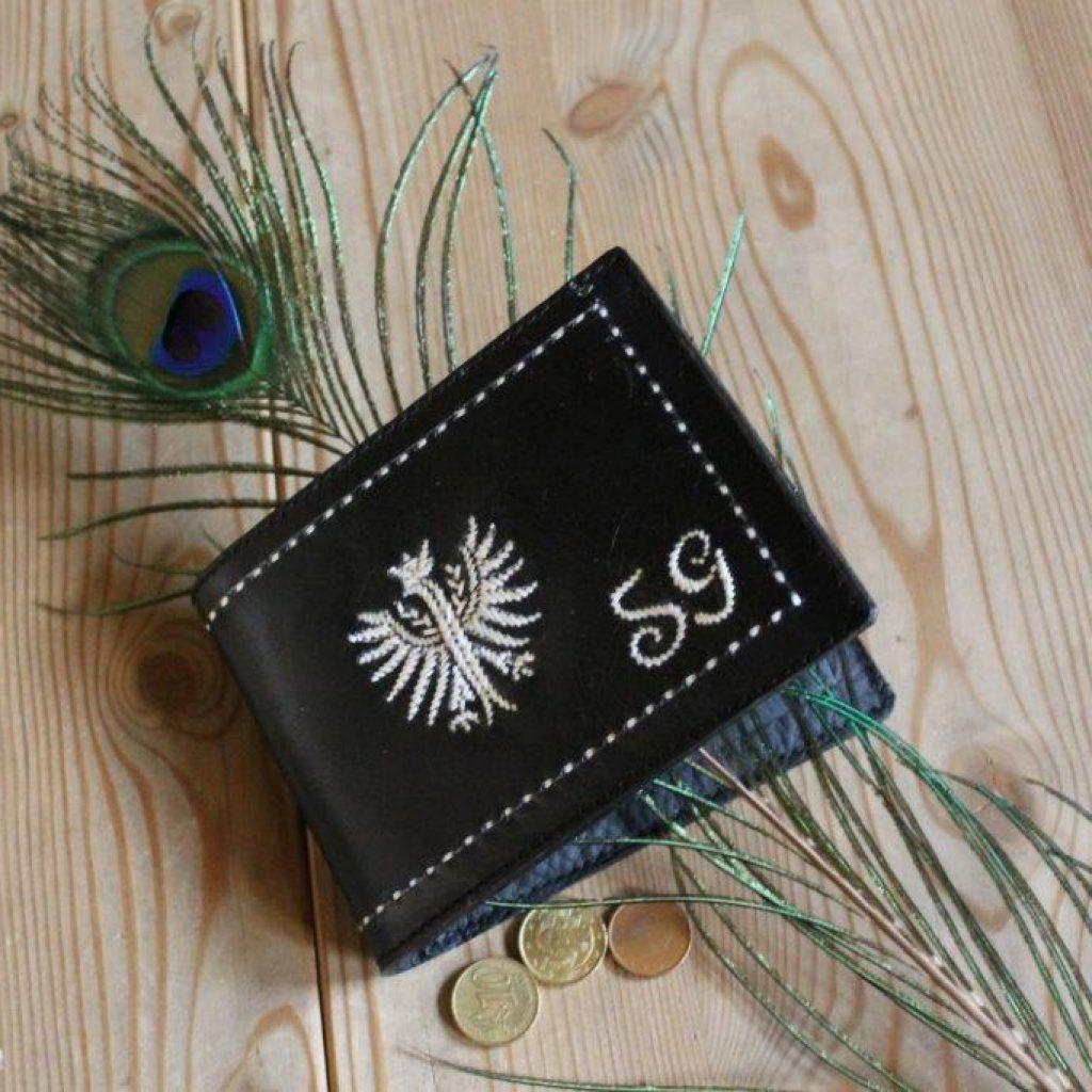 Geldtasche mit einfachem Adler