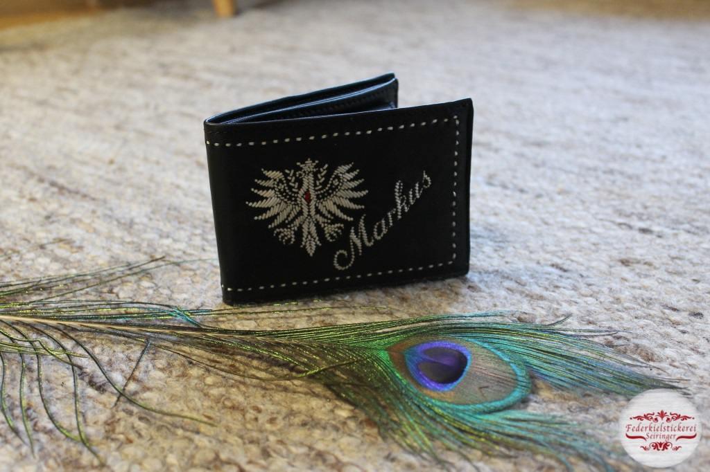 Geldtasche mit aufwändigem Adler