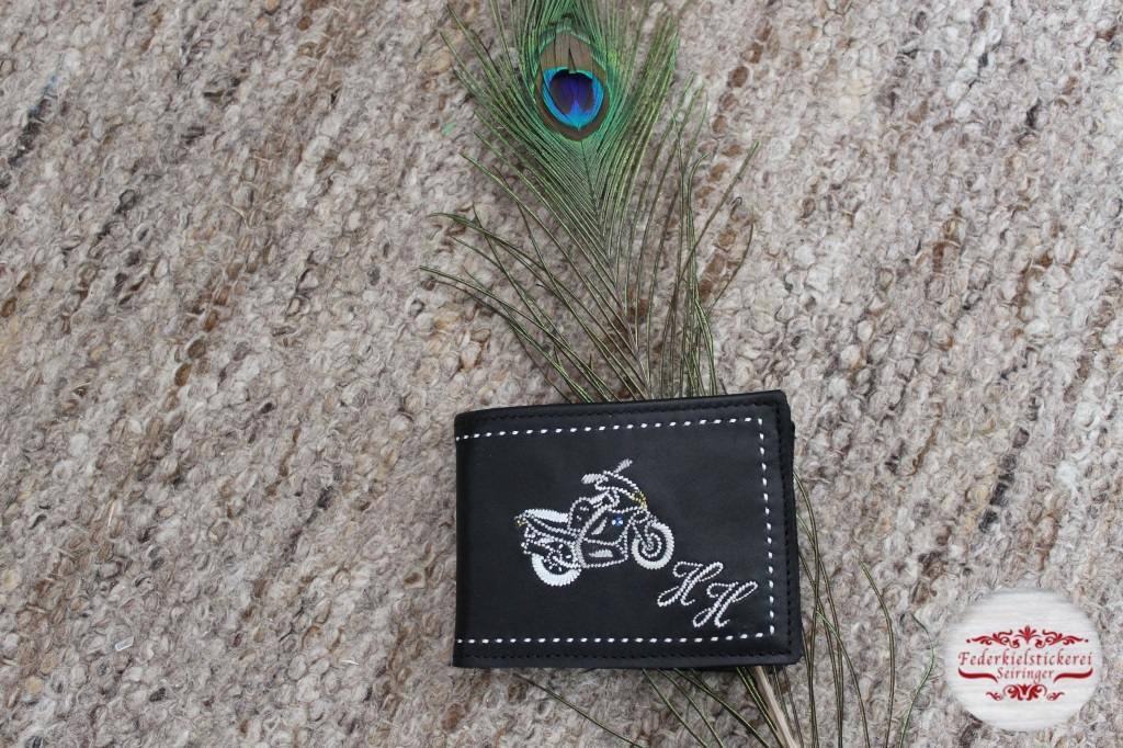 Geldtasche mit BMW Motorrad