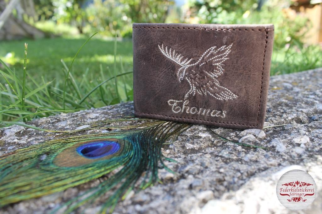 Kleine Geldtasche mit fliegendem Adler
