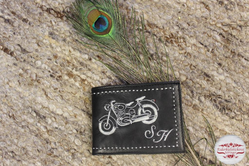 Geldtasche mit Puch Motorrad