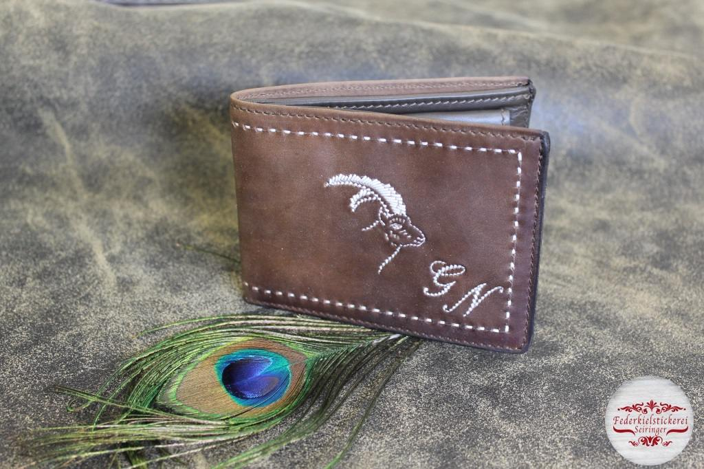 Geldtasche mit Steinbock