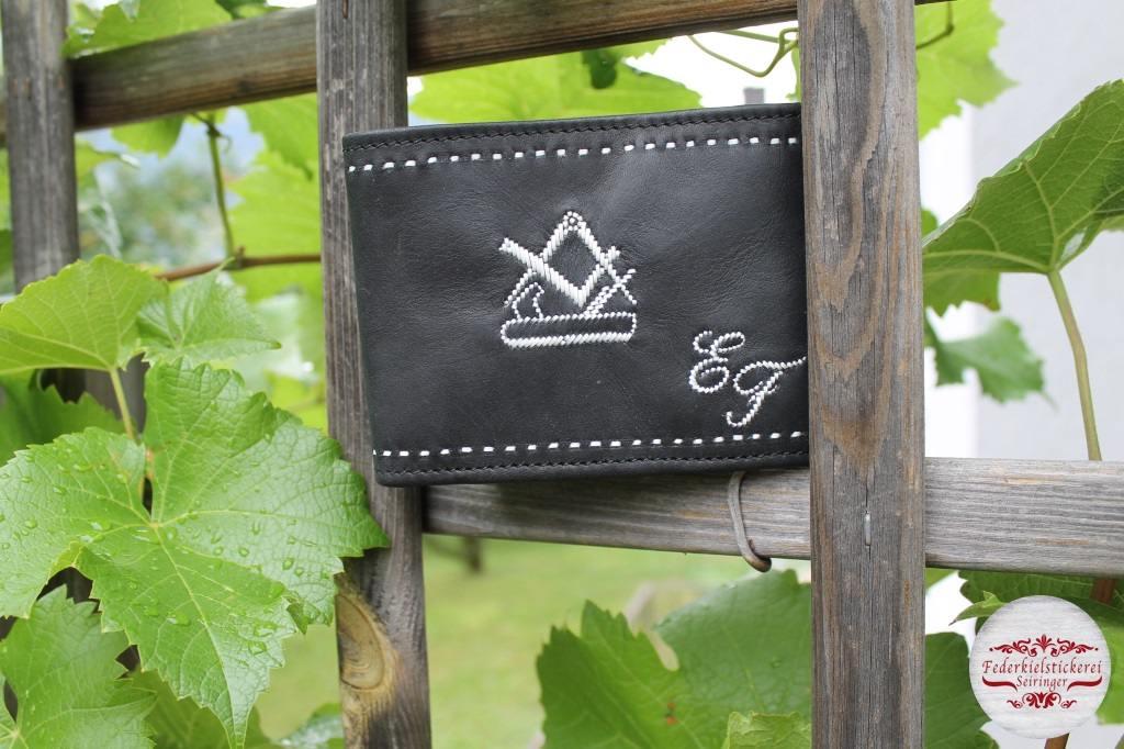 Geldtasche mit Tischler Zunftzeichen