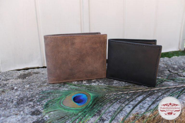 Große und Kleine Geldtaschen im Vergleich