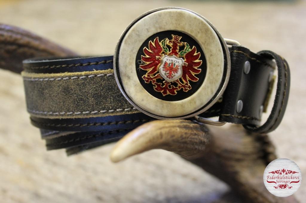 Gürtel mit rotem Adler in Hirschhorn