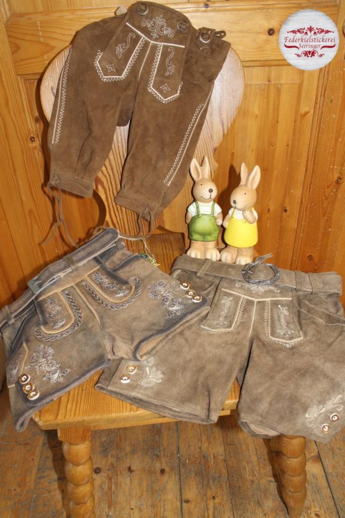 Kinder Lederhosen in Kurz oder Kniebund