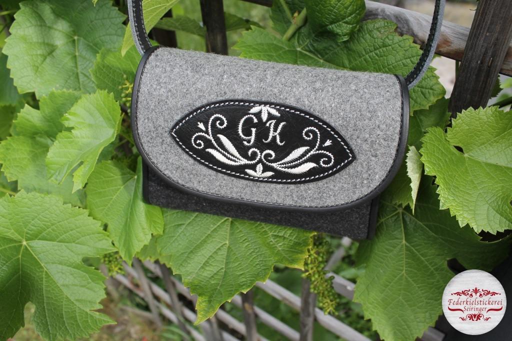 Tolle Filz/Leder Handtasche