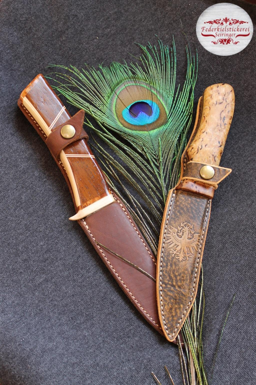 Messerscheide mit geprägtem Adler