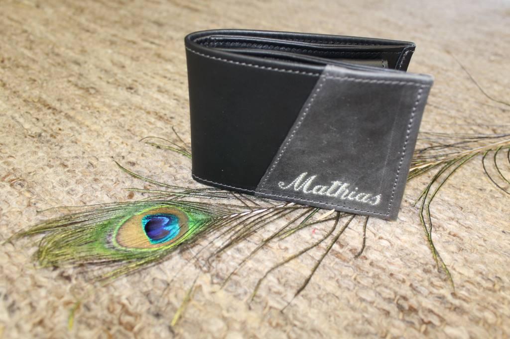 Zweifärbige Geldtasche