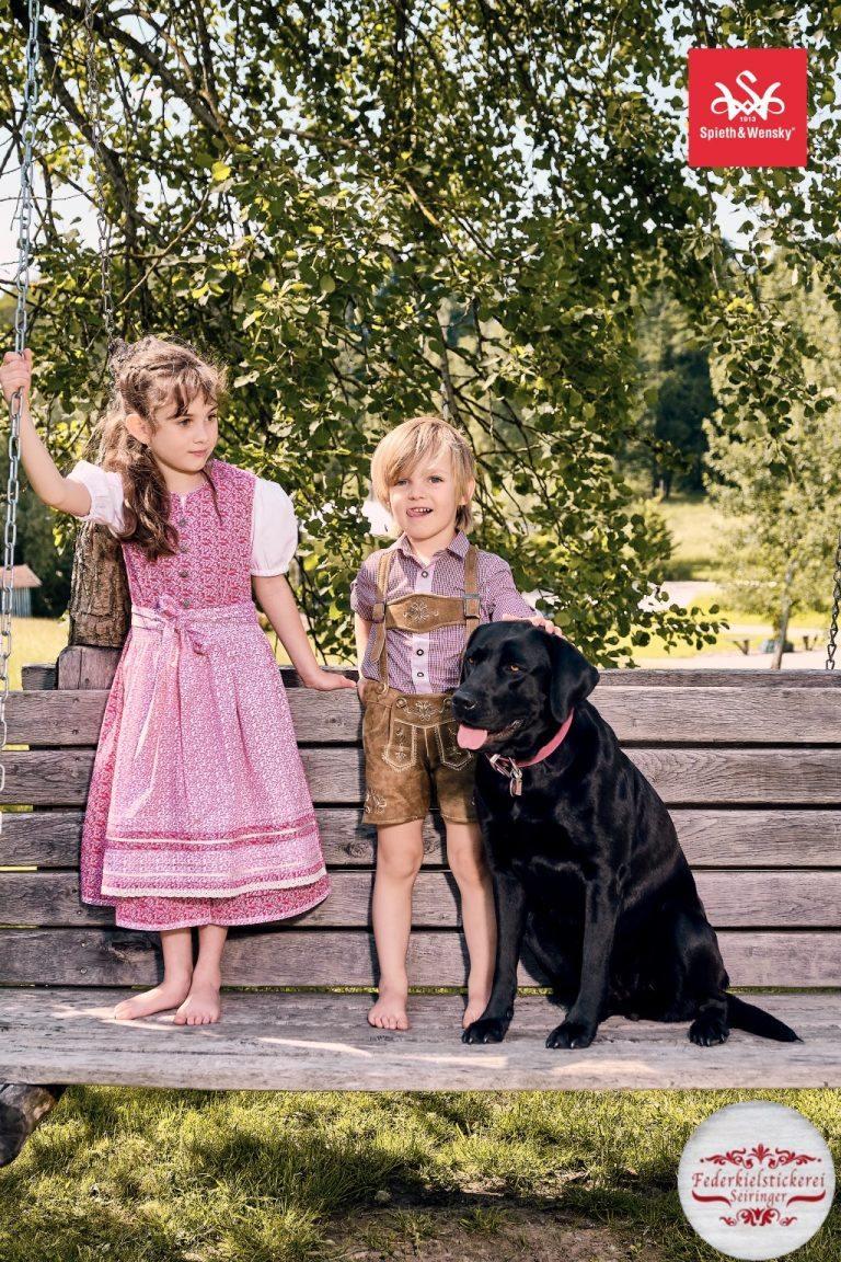 Kinder Dirndl pink