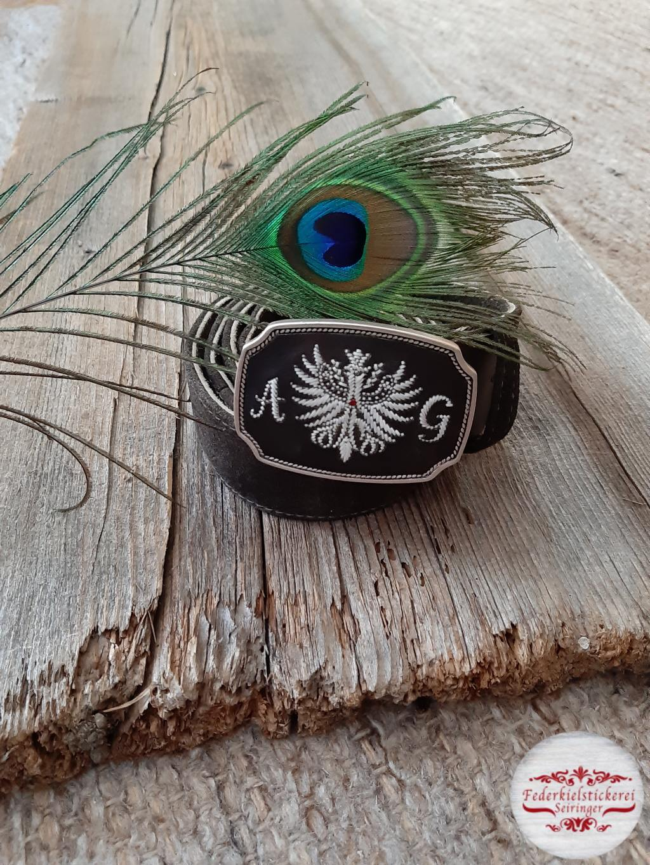 Gürtel mit Adler und Monogramm