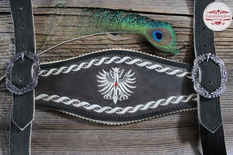 Hosenträger mit Adler und Umrandung