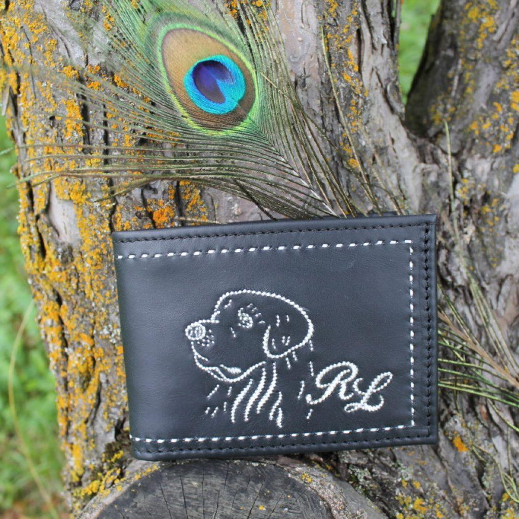 Geldtasche mit einem Retriver Hund